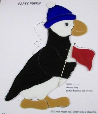 Pre-Cut Stained Glass / Mosaic  Party Puffin Kit