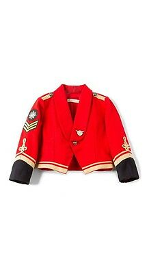 Stella McCartney LEE  BNWT COTTON MILITARY JACKET, Red Size 8 Wool Band