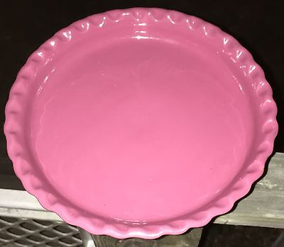 Collectible Kentucky Bybee Pottery 9 3/4 Wine Color Fluted Pie Plate * Pretty *