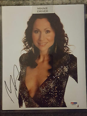 2015 Leaf Pop Century MINNIE DRIVER AUTOGRAPHED SIGNED 8X10 PHOTO PSA CERTIFIED
