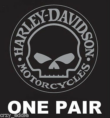 Harley Davidson Willie G Skull Decal * One Pair * Made In Usa No Reserve Listing