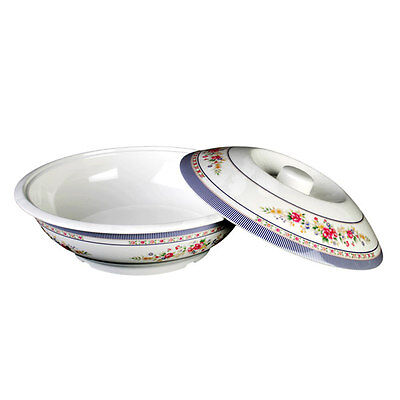 "Thunder Group 8010 Melamine Serving Bowl With Lid 75 oz 10"" Four Color Options"