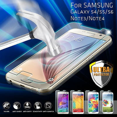 2x 9H Tempered Glass Film Screen Protector Guard for Samsung Galaxy S3 4 5 6 7
