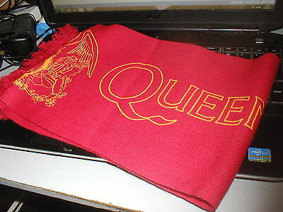 Queen Beautiful Red Queen Official Tour Scarf. Very Rare Near Mint