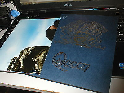 Queen Brian Another World Fanclub Poster And Navy A5 Crest