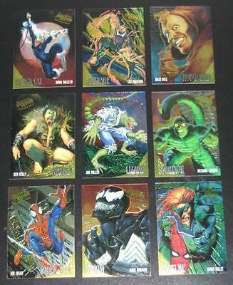 1995 Fleer Ultra Spider-Man GOLDEN WEB Insert Set of 9 Cards NMM, Marvel