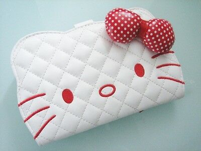Hello Kitty White Long Wallet Purse Coins Bag ~ NEW