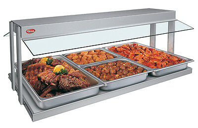 "Hatco GRBW-48-120-QS 48""W Buffet Warmer with Sneeze Guard 1530 Watts"