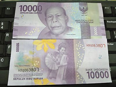 Indonesia 10,000 Rupiah 2016 New Note UNC Replacement (1 NOTES)