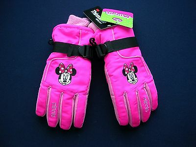 Disney's Minnie Mouse  YOUTH  PINK & BLACK GIRLS SKI GLOVES   AGE 4-16   NWT
