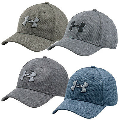 Under Armour Heather Blitzing Stretch Fit Cap Basecap Kappe Schirmmütze 1283151