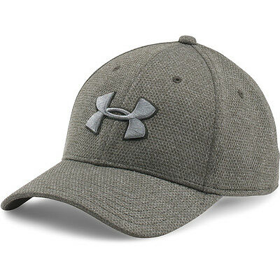 Under Armour Heather Blitzing Stretch Fit Cap Basecap Kappe green 1283151-358