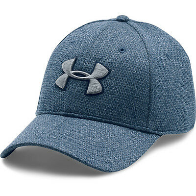 Under Armour Heather Blitzing Stretch Fit Cap Basecap Kappe navy 1283151-997
