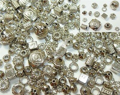 SPACER BEST METALLPERLEN MIX SET ALTSILBER Schmuckbastalset BASTELLPAKET M465