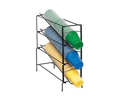 Dispense-Rite WR-CT-3 3 Section Wire Rack Cup Dispenser One Size Fits All