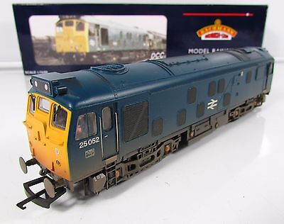 OO Gauge Bachmann 32-327 DCC FITTED Class 25 052 BR Blue Loco Weathered