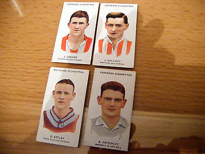 """4 Cards From Carreras """"footballers, S75 - Small"""