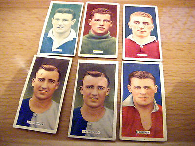 """6 Cards From Carreras """"popular Footballers,"""" S48"""
