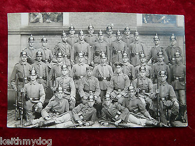 Original WW1 German Military Photograph.Full Company of Young Soldiers