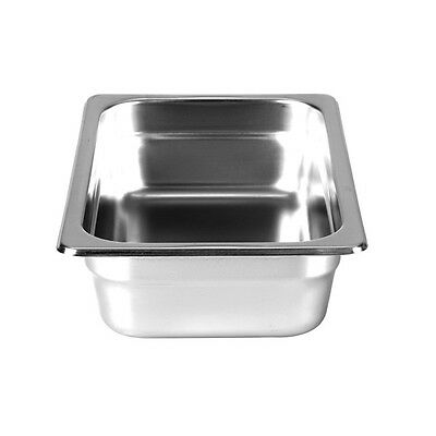 "Thunder Group Steam Table Pan 1/4 Size 2.5"" Deep 22 Gauge Stainless Steel"