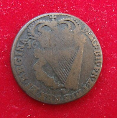 1694 Irish Halfpenny of William and Mary space filler
