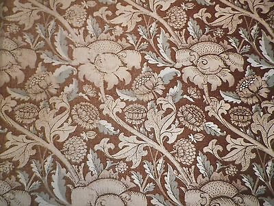 Vintage Jonelle Duracolour Linen Fabric 'Wey' by William Morris' Clean but Faded