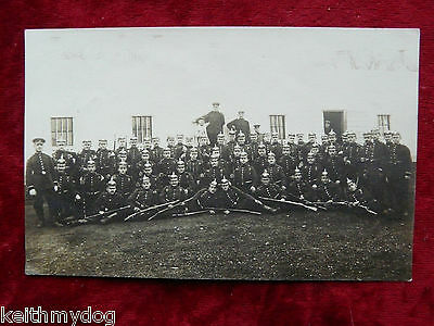Large Gathering of German Soldiers in Pickelhaubes,-Original Photograph-RPPC