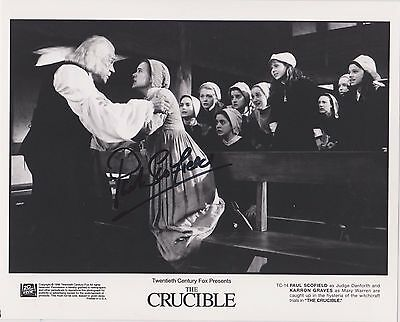 PAUL SCOFIELD (1922-2008) A Man For All Seasons,Signed 8x10 PC pic The Crucible
