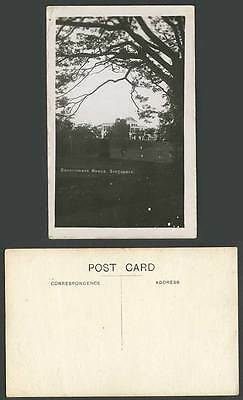 Singapore Government House Building Old Real Photo Postcard Straits Settlements