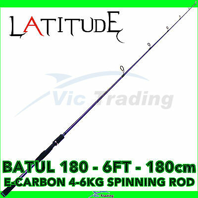 Latitude Batul 180 6ft 1.8m 6' 4-6kg E Carbon Spinning Fishing Rod