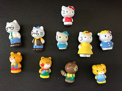 """10 x HELLO KITTY 1.5"""" figures figure toys Cake Toppers Playhouse etc as Pictured"""