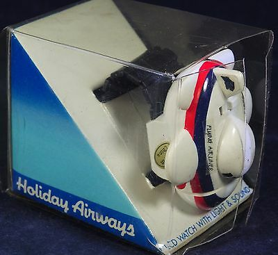 Holiday Airways Retro Aeroplane Watch LCD with Light and Sound