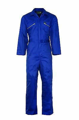 Champion Stud Front Fastening Boilersuit with Internal Knee Pouches - BLUE