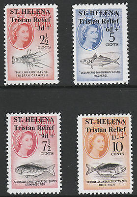 St Helena (735) 1961 Tristan Relief set of 4 - Maryland FORGERIES unused