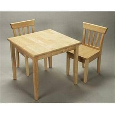 Giftmark 4525N Childrens Square Table & 2 Chair Set Natural