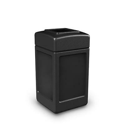 Commercial Zone Products 732101 42-gallon Square Waste Container Black