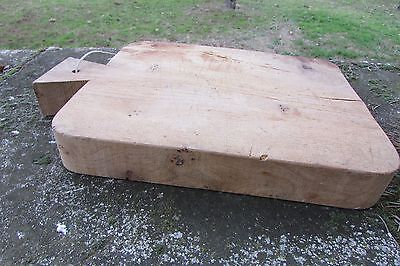 Large Thick Heavy Antique French Wooden Bread Board Chopping Cutting Primitive