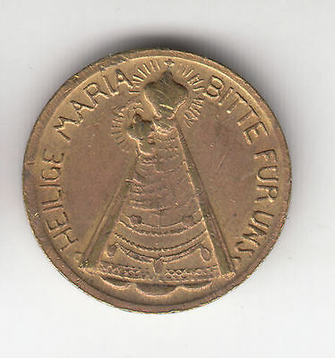 Austria Holy Mary Brass Token C1950 Ef+     233K              By Coinmountain