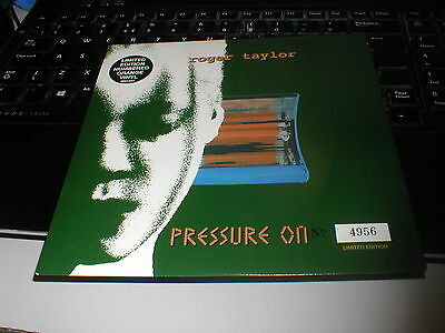 """Queen Roger Taylor Pressure On. Numbered Original Vinyl Limited 7""""ps Near Mint"""