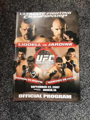 Ufc 76 Program Mma Signed By Forest Griffin, Lyoto Machida Plus more