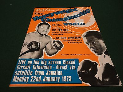 boxing programme frazier v foreman 1973 live from jamaica