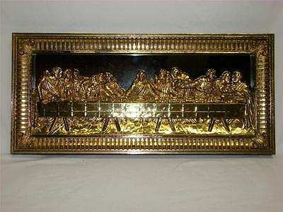 Vintage Homco Home Interiors Lord's Last Supper Mirrored Picture Wall Plaque