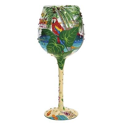 Lolita Superbling Tropical Dream Extra Large Wine Glass New Boxed