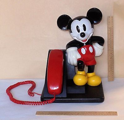 MICKEY MOUSE Push-Button TELEPHONE - As Is - For Parts or Restoration