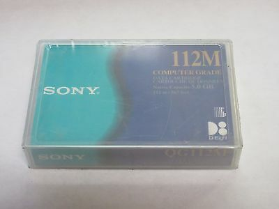 *NEW/SEALED* Sony 112M 5GB Computer Grade Data Cartridge D8 D-Eight Tape QG112M