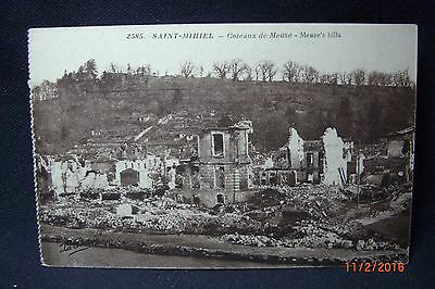 """Two WW I Censored APO 745 """"Soldier's Mail"""" Post Cards """"Saint-Mihiel"""" to Mich."""