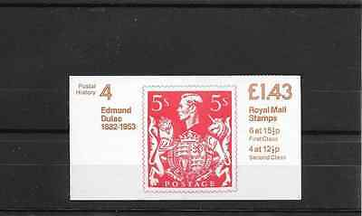 GB 1982 Postal History #4 Folded £1.43 Booklet - FN 2A