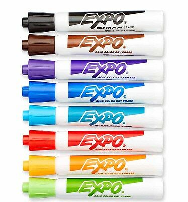 12 Expo Dry Erase Chiisel Markers Assorted   New 83073 1 Dozen