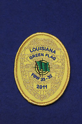 S5193: Aufnäher Patch Luftwaffe Louisiana Green Flag FBW 33-32 2011 10x75cm