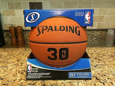 Official Spalding NBA 30 Years 30th Anniversary Game Ball Leather Basketball